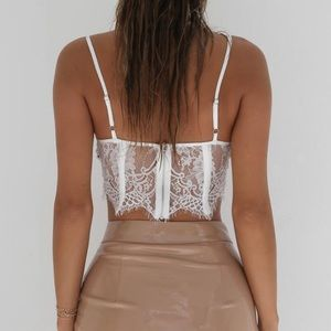 Tiger Mist Tops - White Lace Top